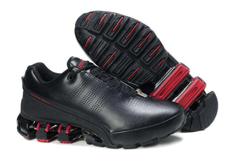1d895814 Кроссовки Adidas Porsche Design IV Leather Black Red - Интернет-магазин