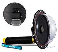 Telesin Водонепроницаемый чехол-купол с линзой Dome Port для GoPro HERO5 Black