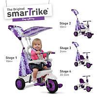 Велосипед  3-х колесный с ручкой и корзиной  Smart Trike Spirit 4 в 1 фиолетовый
