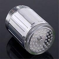 LED насадка на кран подсветка на кран голубая