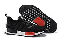 Мужские кроссовки Adidas nmd  runner Black Red, фото 1