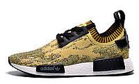 Мужские кроссовки Adidas nmd Runner Flyknit Yellow, фото 1