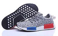 Мужские кроссовки Adidas nmd Runner Flyknit Grey, фото 1