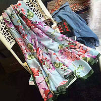 Большой  платок палантин  легкий шелковый, фото 1