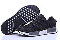 Мужские кроссовки Adidas nmd Runner Flyknit Black, фото 1