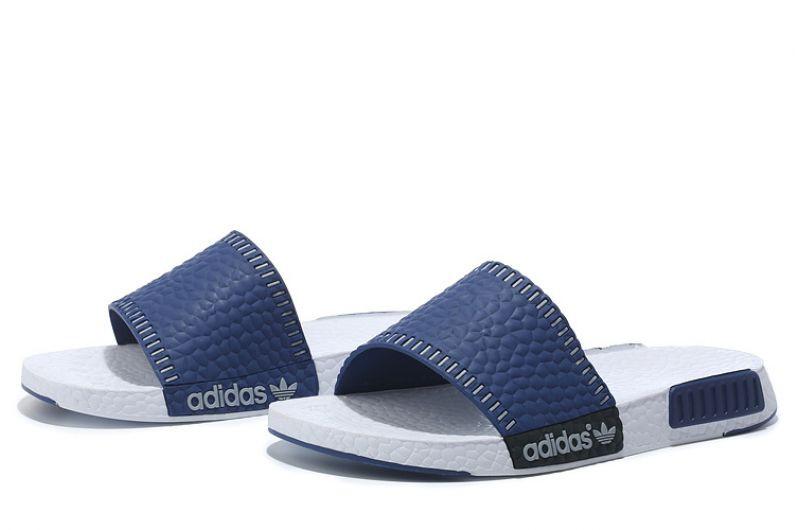 Тапки мужские Adidas nmd Runner Blue-White, фото 1