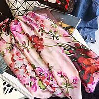 Большой  платок палантин Gucci легкий шелковый