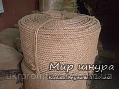 Канат джутовый тросовой свивки, диаметр 10 мм, канаты шнуры веревки производство
