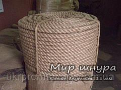 Канат джутовий тросового звивання, діаметр 18 мм, шнури мотузки виробник