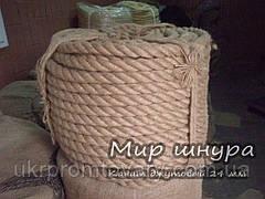 Канат джутовий тросового звивання, діаметр 24 мм, шнури мотузки виробник