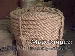 Канат джутовий тросового звивання, діаметр 26 мм, шнури мотузки виробник