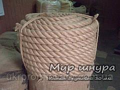 Канат джутовий тросового звивання, діаметр 30 мм, шнури мотузки виробник