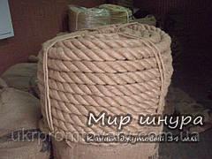 Канат джутовий тросового звивання, діаметр 34 мм, шнури мотузки виробник