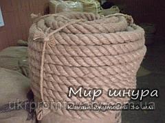 Канат джутовий тросового звивання, діаметр 36 мм, шнури мотузки виробник