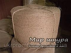 Канат джутовий тросового звивання, діаметр 6 мм, шнури мотузки виробник