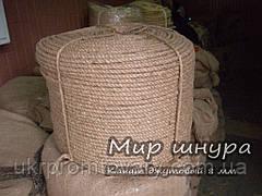 Канат джутовий тросового звивання, діаметр 8 мм, шнури мотузки виробник