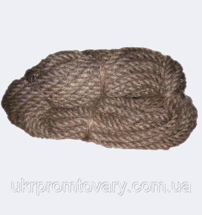Каболка водопроводная, льняная, сухая ф 30 мм, канаты шнуры веревки производство