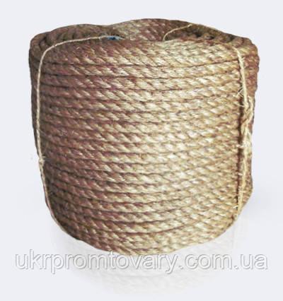 Канат манильский тросовой свивки 3-х прядный крученный, диаметр ф 20 мм, канаты шнуры веревки производство