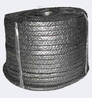 Набивка сальниковая ХБП-31 25x25 - хлопчатобумажная плетеная безасбестовый сальник, канаты шнуры веревки производство