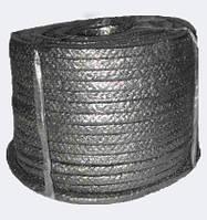 Набивка сальниковая ХБП-31 8x8 - хлопчатобумажная плетеная безасбестовый сальник, канаты шнуры веревки производство