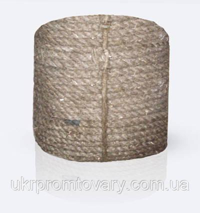 Канат (веревка) пеньковый тросовой свивки, диаметр ф 22 мм, канаты шнуры веревки производство, фото 2