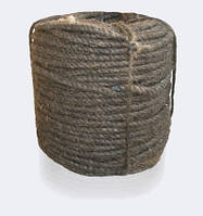 Канат (веревка) пеньковый, пропитанный, смоляной, тросовой свивки, диаметр ф 56 мм, канаты шнуры веревки производство