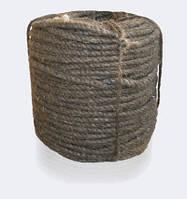Канат (веревка) пеньковый, пропитанный, смоляной, тросовой свивки, диаметр ф 40 мм, канаты шнуры веревки производство