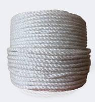 Канат полипропиленовый тросовой свивки, диаметр 8 мм, канаты шнуры веревки производство
