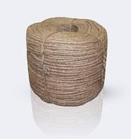 Веревка льняная 3-х прядный крученный, диаметр ф 12 мм, канаты шнуры веревки производство