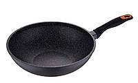Сковорода ВОК 30 см покрытие мрамор BL-1089