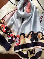 Большой  платок палантин Louise Vuitton легкий шелковый, фото 1
