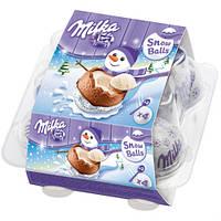 Шоколадные яйца Milka 4 шт в новогоднем оформлении