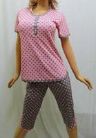 """Пижама женская футболка с бриджами """"Горошек"""""""