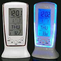 Настольные цифровые LED часы с термометром 510