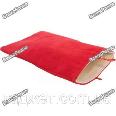 Чехол-карман велюр для планшета 7 дюймов красного цвета.