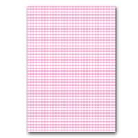Бумага дизайнерская А4 (200 гр/м) Розовая клетка