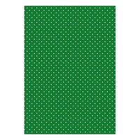 Бумага дизайнерская А4 (200 гр/м) Мелкий горошек на зеленом