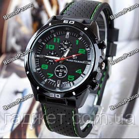Street Racer GT Мужские часы Черные с зеленым
