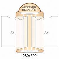 Стенд-книжка Атестація педагогів - 3838