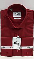 Рубашка мужская Slim Fit красная