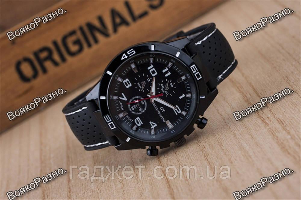 Мужские часы Street Racer GT Черные с белым.