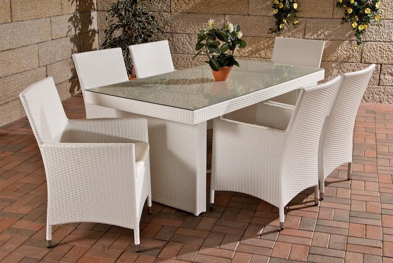 Обеденный комплект мебели из ротанга