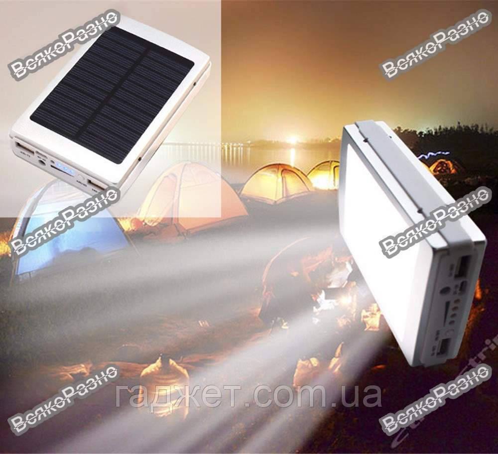 Solar power bank 30000 mAh зарядка на солнечной батареи с фонариком