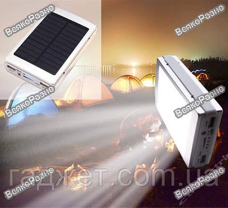 Solar power bank 30000 mAh зарядка на солнечной батареи с фонариком, фото 2