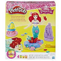 Игровой набор пластилина Play-Doh принцесса Дисней Ариэль (Русалочка) и друзья. Оригинал Hasbro