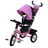 Детский трехколесный велосипед Azimut Trike Air BC-17 колеса на спицах Розовый