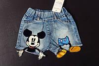 Джинсовые летние шорты с микки Mickey Mouse