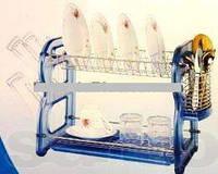 Сушилка для посуды с пластиковыми боками А-ПЛЮС 1188