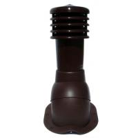 Вентиляционный выход с колпаком Kronoplast KBN для металлочерепицы низкий профиль волна до 25 мм. Ø110 мм коричневый 8017