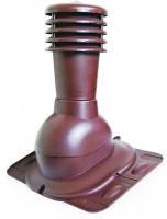 Вентиляционный выход универсальный с колпаком Kronoplast KU для всех видов кровли с ЭПДМ резиной Ø110 мм красный 3009